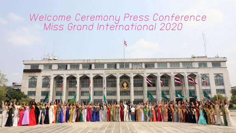 Welcome Ceremony Press Conference Miss Grand International 2020